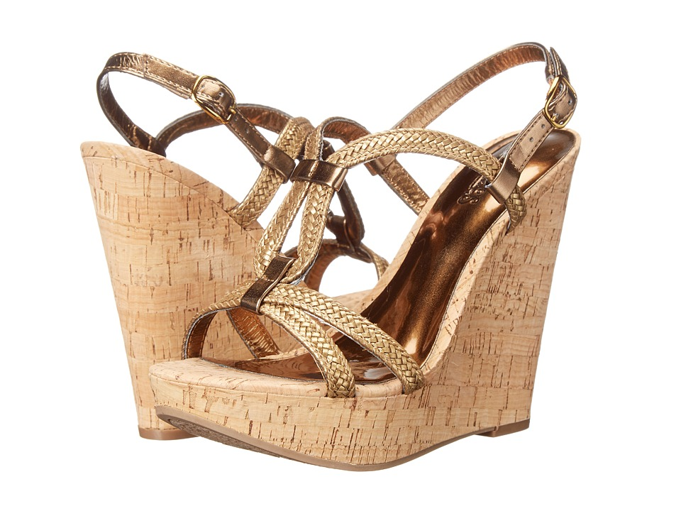 CARLOS by Carlos Santana Barby Bronze Womens Wedge Shoes