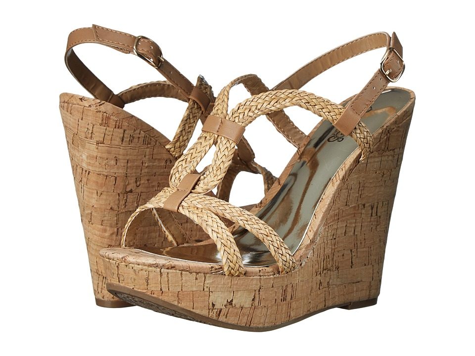 CARLOS by Carlos Santana Barby Natural Womens Wedge Shoes