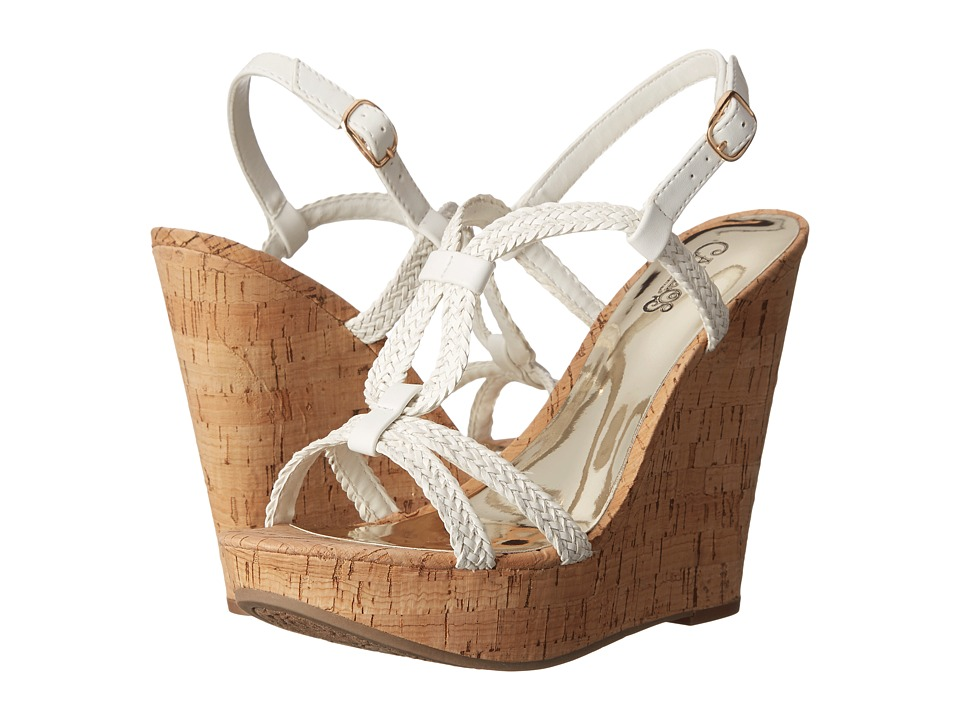 CARLOS by Carlos Santana Barby White Womens Wedge Shoes