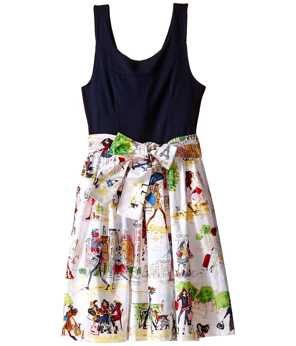 fiveloaves twofish Bouquet Wrap Dress Little Kids/Big Kids Navy/Multi Girls Dress