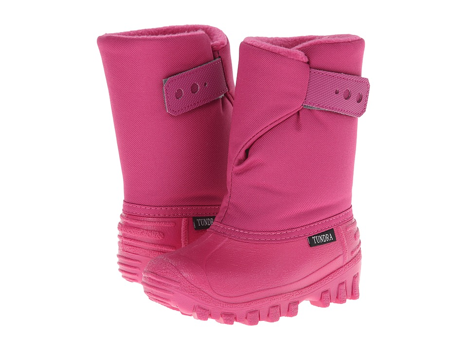Tundra Boots Kids Teddy 4 Toddler/Little Kid Cherry/candy pink Girls Shoes