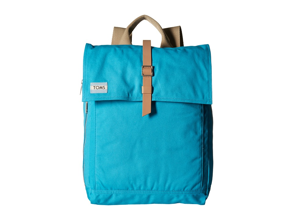 TOMS - Utility Canvas Backpack (Bright Blue) Backpack Bags