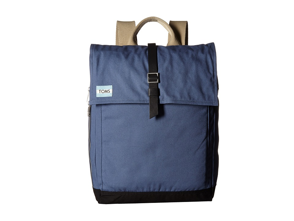 TOMS - Utility Canvas Backpack (Dark Blue) Backpack Bags