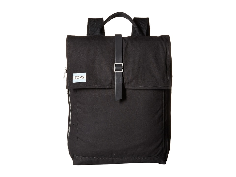 TOMS - Utility Canvas Backpack (Black) Backpack Bags