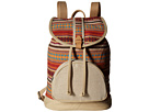 TOMS Multi Stripe Backpack (Medium Red)