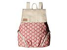 TOMS Multi Cross Stitch Mix Backpack (Medium Red)