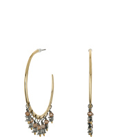 Alexis Bittar - Hoop w/ Dangling Crystal and Briolette Accent Earrings