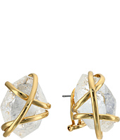 Alexis Bittar - Caged Post w/ Rough Cut Crystal Nugget Earrings