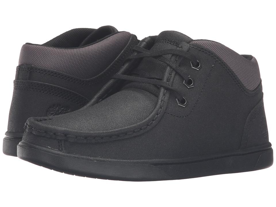 Timberland Kids - Groveton Leather Moc Toe Chukka (Big Kid) (Black Tech Tuff Leather) Kid