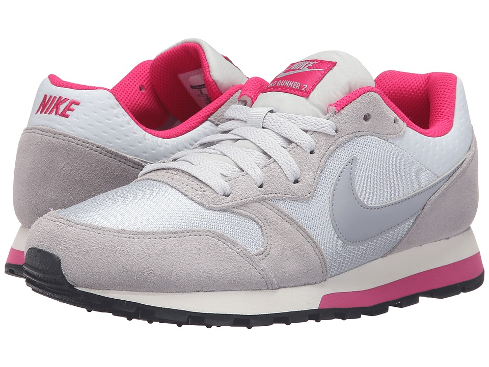 Nike - MD Runner 2 (Pure Platinum/Wolf Grey/Vivid Pink/Sail) Womens Classic Shoes