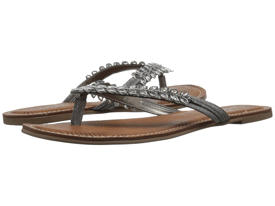CARLOS by Carlos Santana Heron Silver Womens Slide Shoes