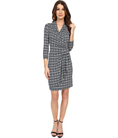 Karen Kane - Diamond Stripe Cascade Wrap Dress