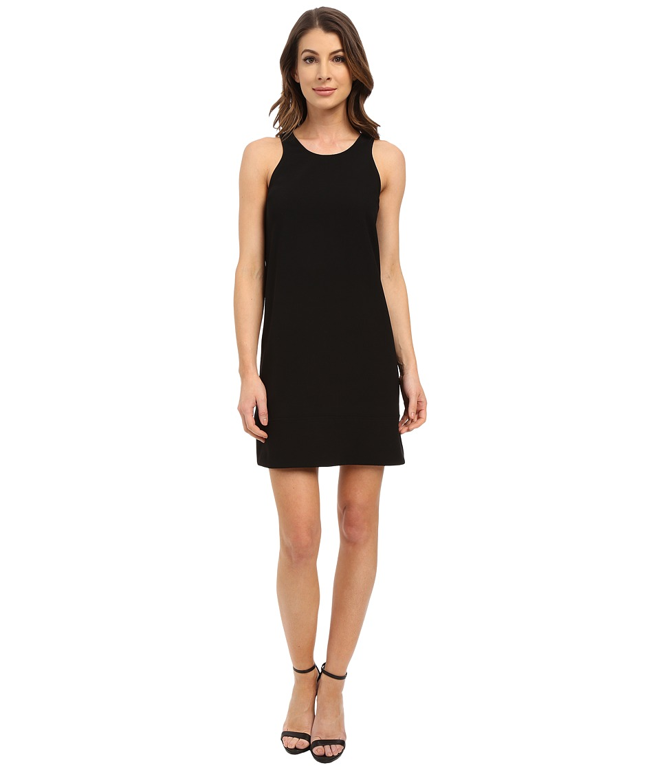 Karen Kane Sleeveless Racerback Shift Dress Black Womens Dress