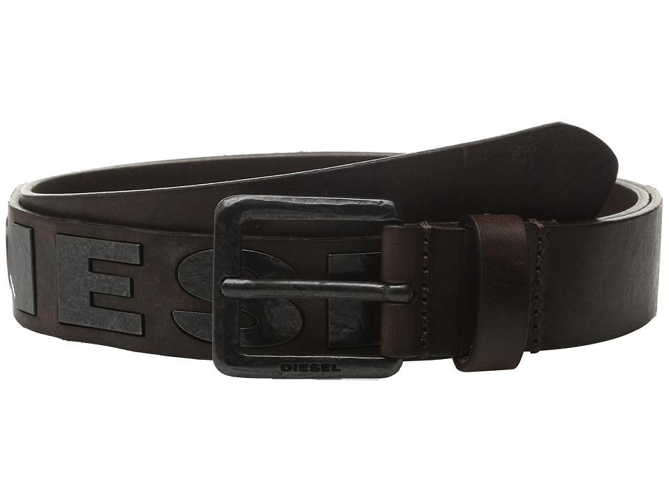 Diesel Bold Belt Coffee Mens Belts
