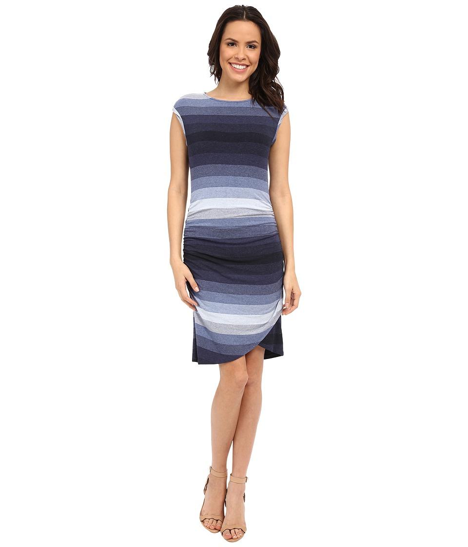 KUT from the Kloth Bryce Dress Navy/Light Blue Womens Dress