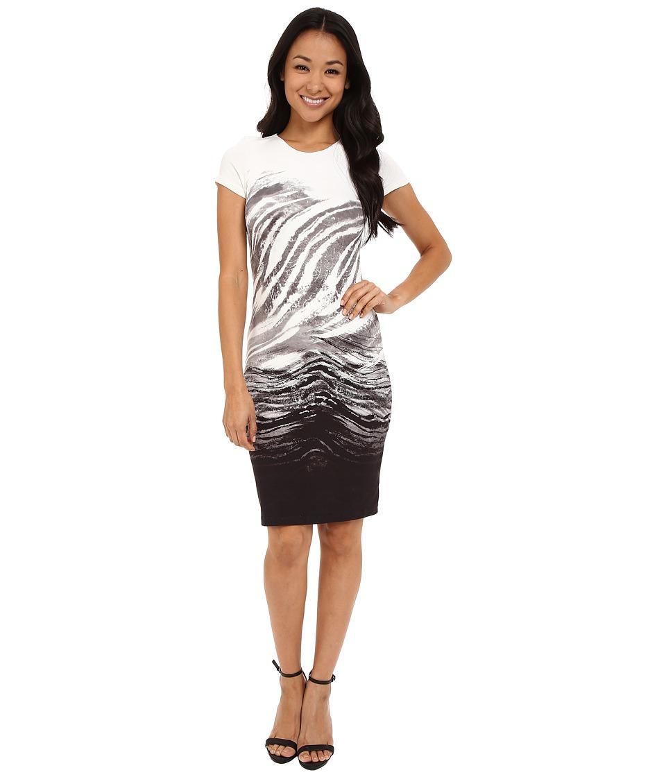 Karen Kane Ombre Graphic Sheath Dress Print Womens Dress