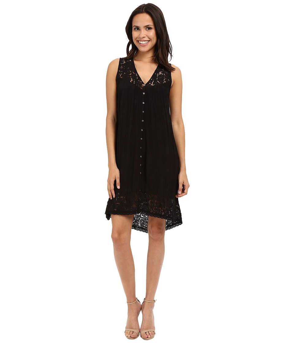 Karen Kane Crushed Lace Inset Dress Black Womens Dress