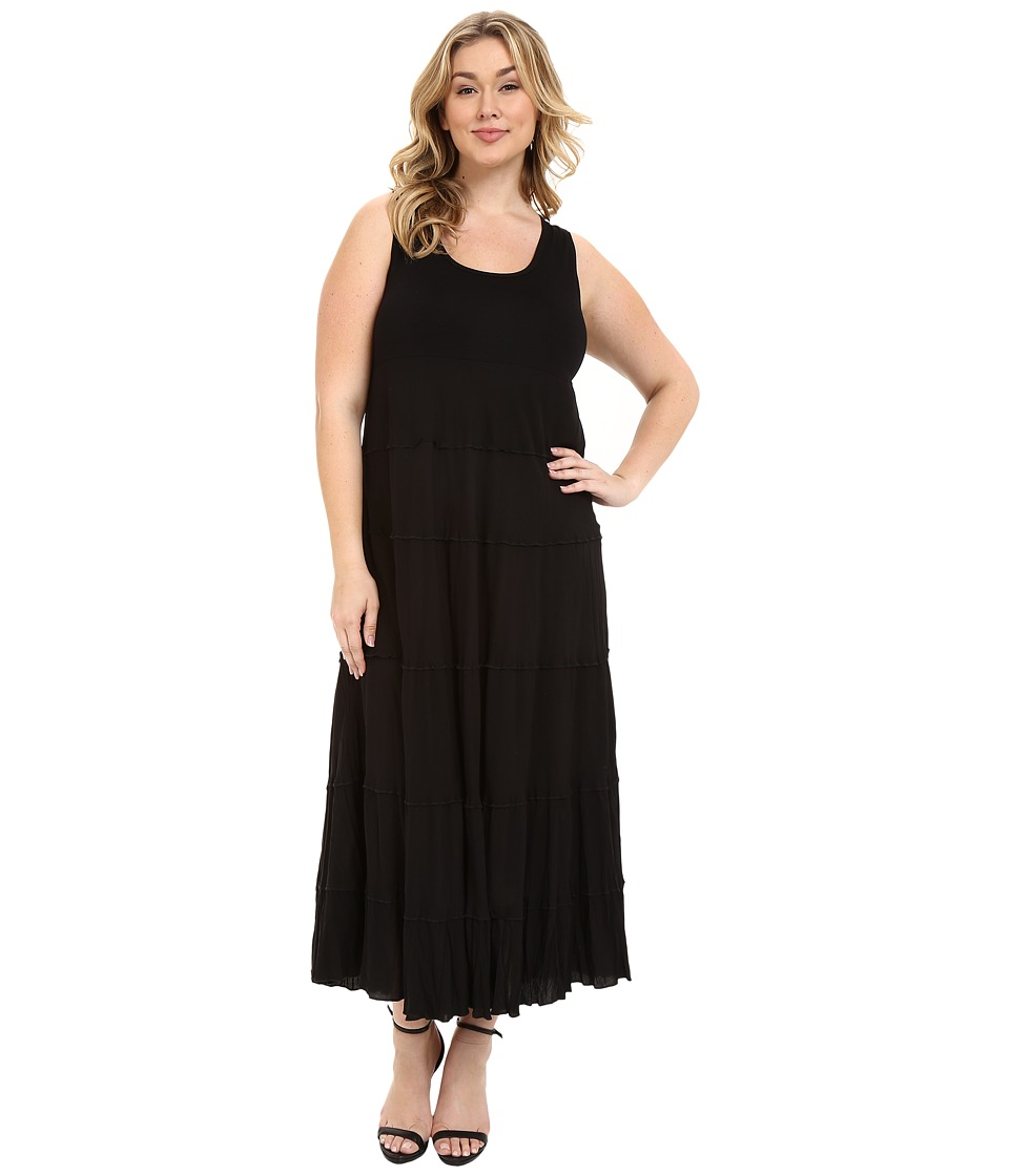 Karen Kane Plus Plus Size Tiered Maxi Dress Black Womens Dress