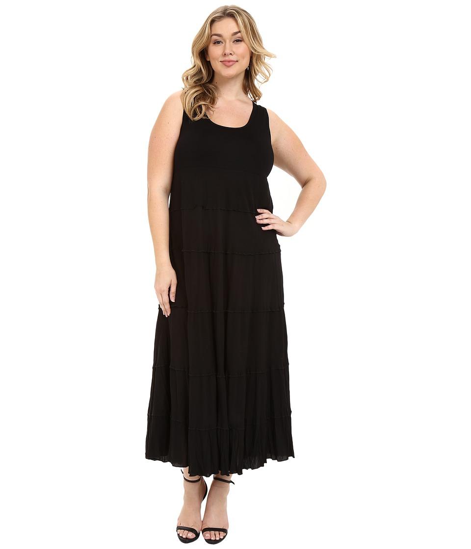 Karen Kane Plus Plus Size Tiered Maxi Dress Black Womens Dress