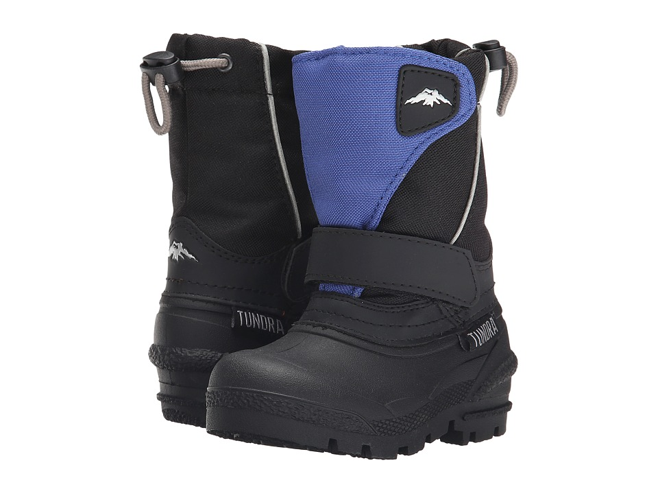 Tundra Boots Kids - Quebec (Toddler/Little Kid/Big Kid) (Black/Royal) Boys Shoes
