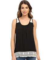 Karen Kane - Sleeveless Lace Trim Top