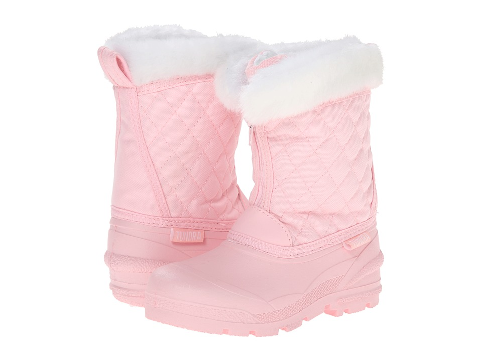 Tundra Boots Kids Snowdrift (Little Kid/Big Kid) (Pink/White) Girls Shoes