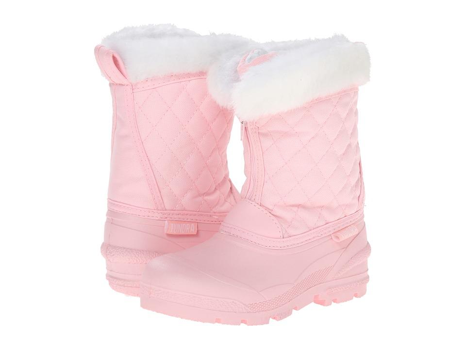 Tundra Boots Kids Snowdrift Little Kid/Big Kid Pink/White Girls Shoes