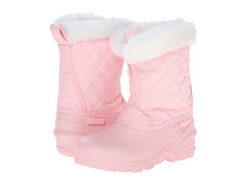 Tundra Boots Kids Snowdrift (Little Kid/Big Kid) - Pink/White