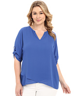 Karen Kane Plus - Plus Size Asymmetrical Hem Wrap Top