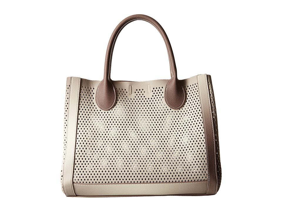 Steve Madden - Bperfie Perforated Bag in Bag (Taupe Multi) Tote Handbags