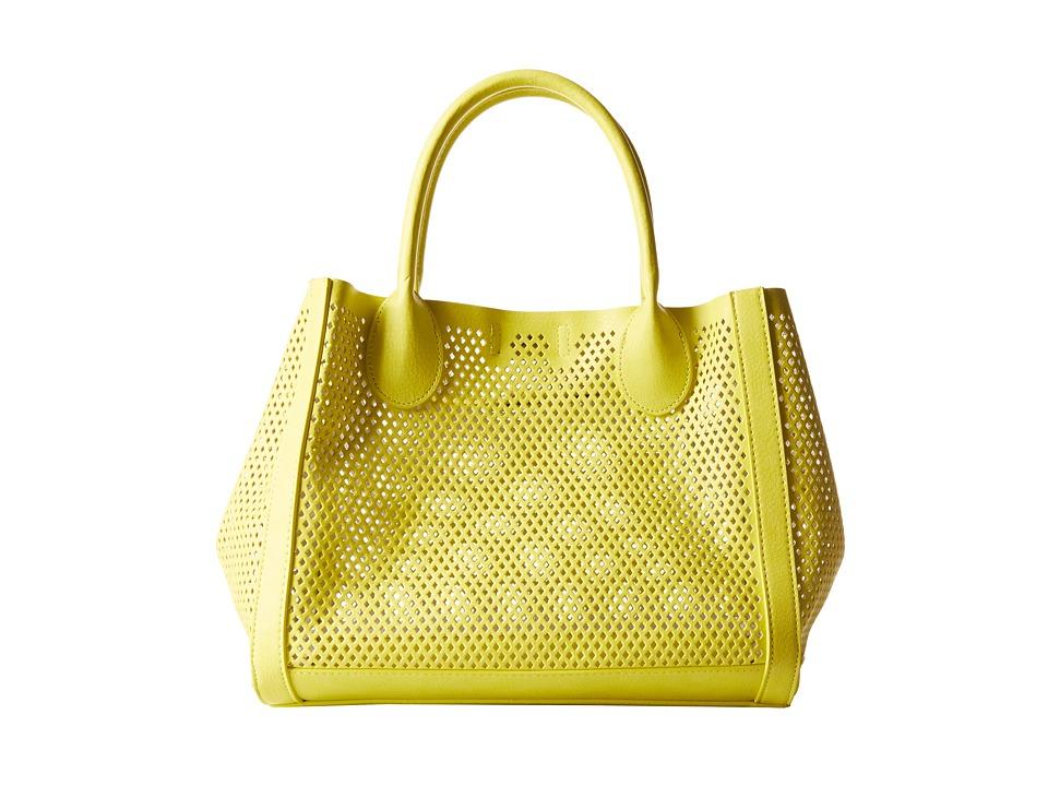 Steve Madden - Bperfie Perforated Bag in Bag (Yellow/Pewter) Tote Handbags