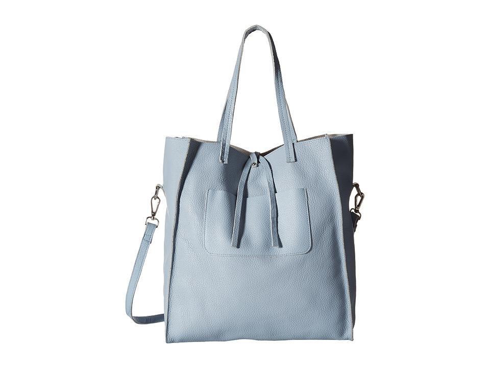 Steve Madden - Bnixxx Leather Tote (Blue) Tote Handbags