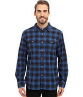 True Grit - Rock Point Plaid Long Sleeve Shirt w/ Chambray Trim