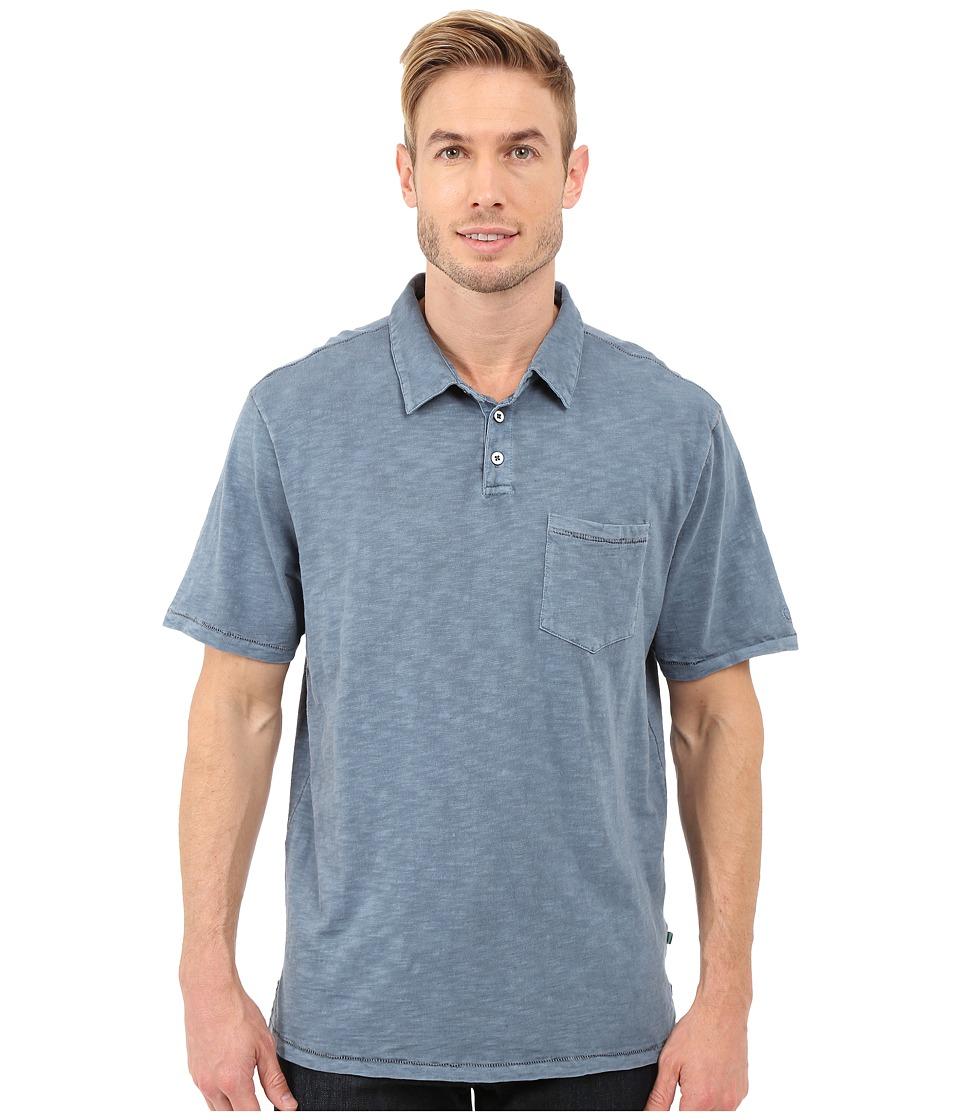 True Grit Heritage Slub Short Sleeve One Pocket Polo w/ Saddle Stitch Detail Vintage Indigo Mens Clothing
