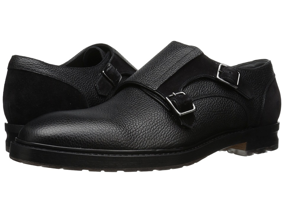 Alexander McQueen Gable 2 Buckle Monk Oxford (Black) Men