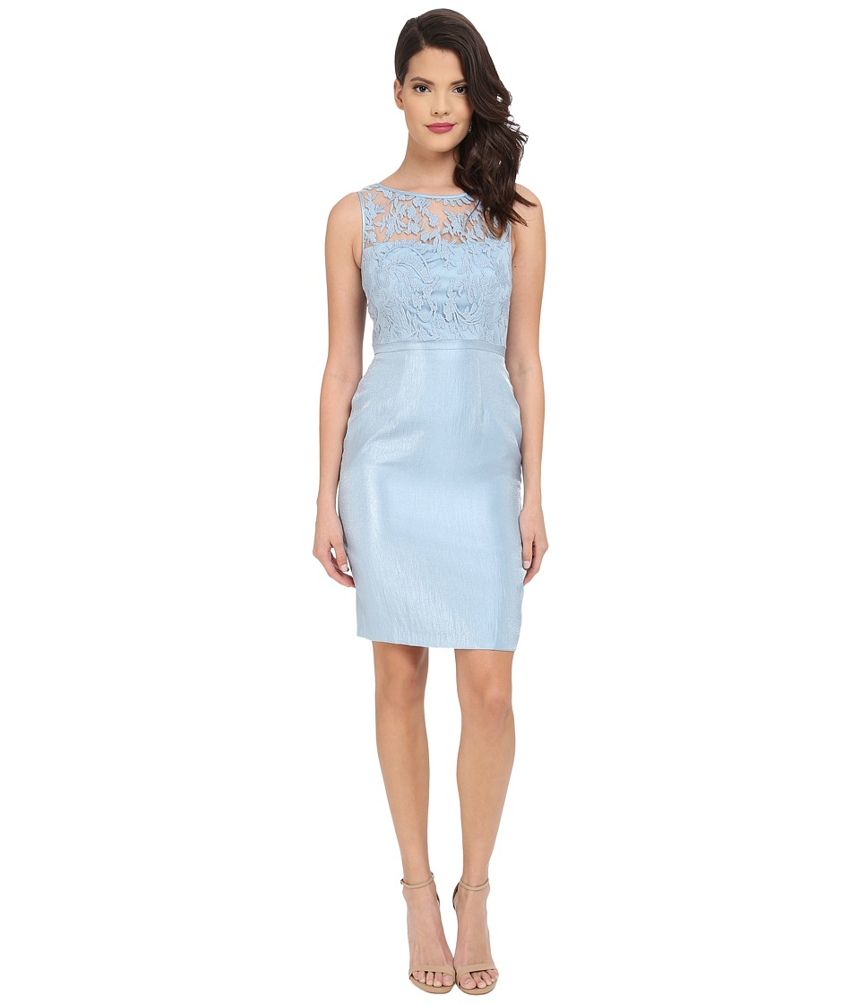 Adrianna Papell Bow Detail Lace Top Sheath Dew Womens Dress