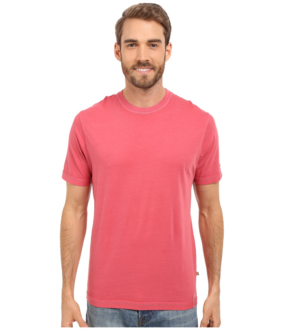 True Grit Combed Cotton and Vintage Pigment Dyed Short Sleeve Basic Crew Neck Tee w/ Stitch Detail Vintage Red Mens T Shirt