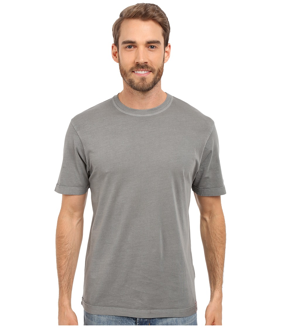 True Grit Combed Cotton and Vintage Pigment Dyed Short Sleeve Basic Crew Neck Tee w/ Stitch Detail Vintage Grey Mens T Shirt