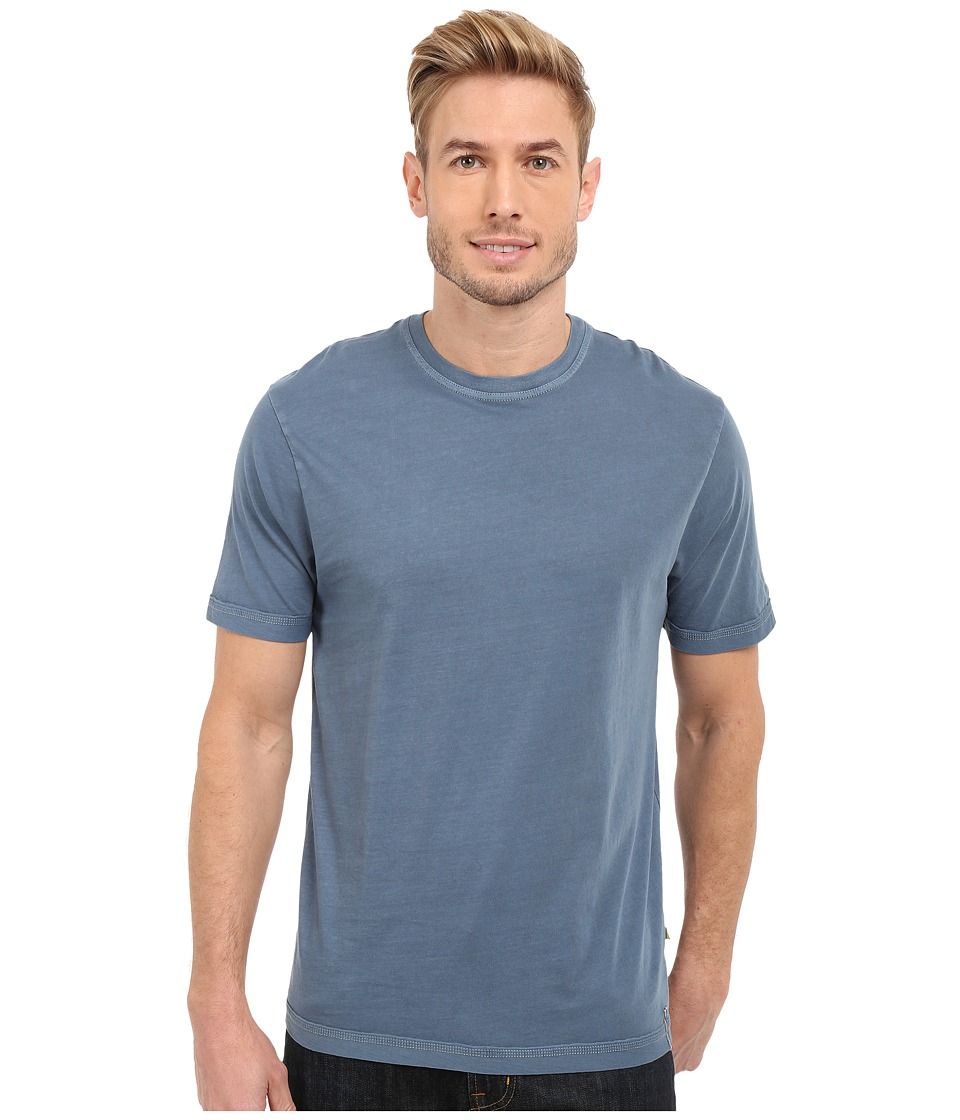 True Grit Combed Cotton and Vintage Pigment Dyed Short Sleeve Basic Crew Neck Tee w/ Stitch Detail Vintage Indigo Mens T Shirt