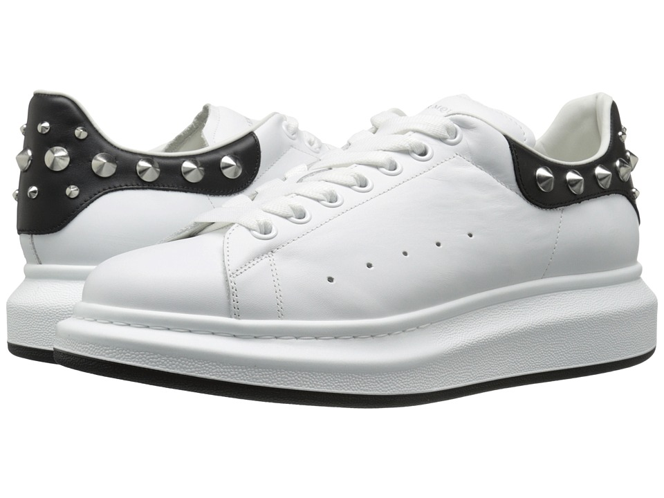 Alexander McQueen Studded Sneaker (White/Black) Men