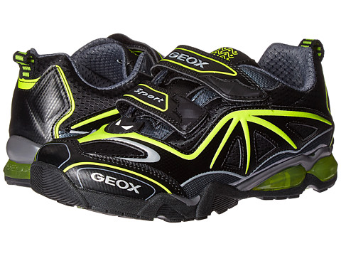 Geox Kids Jr Light Eclipse 2 BO 2 (Little Kid) - Black/Lime