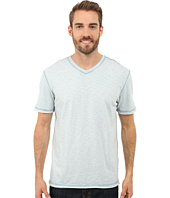 True Grit - Soft Slub Short Sleeve V-Neck Tee w/ Contrast Coverstitch