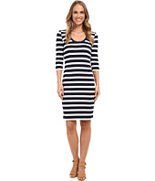 Adrianna Papell - Striped Slim Ponte Dress
