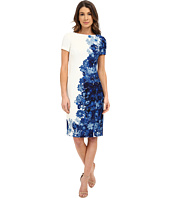 Adrianna Papell - Printed Waffle Pique Fitted Dress
