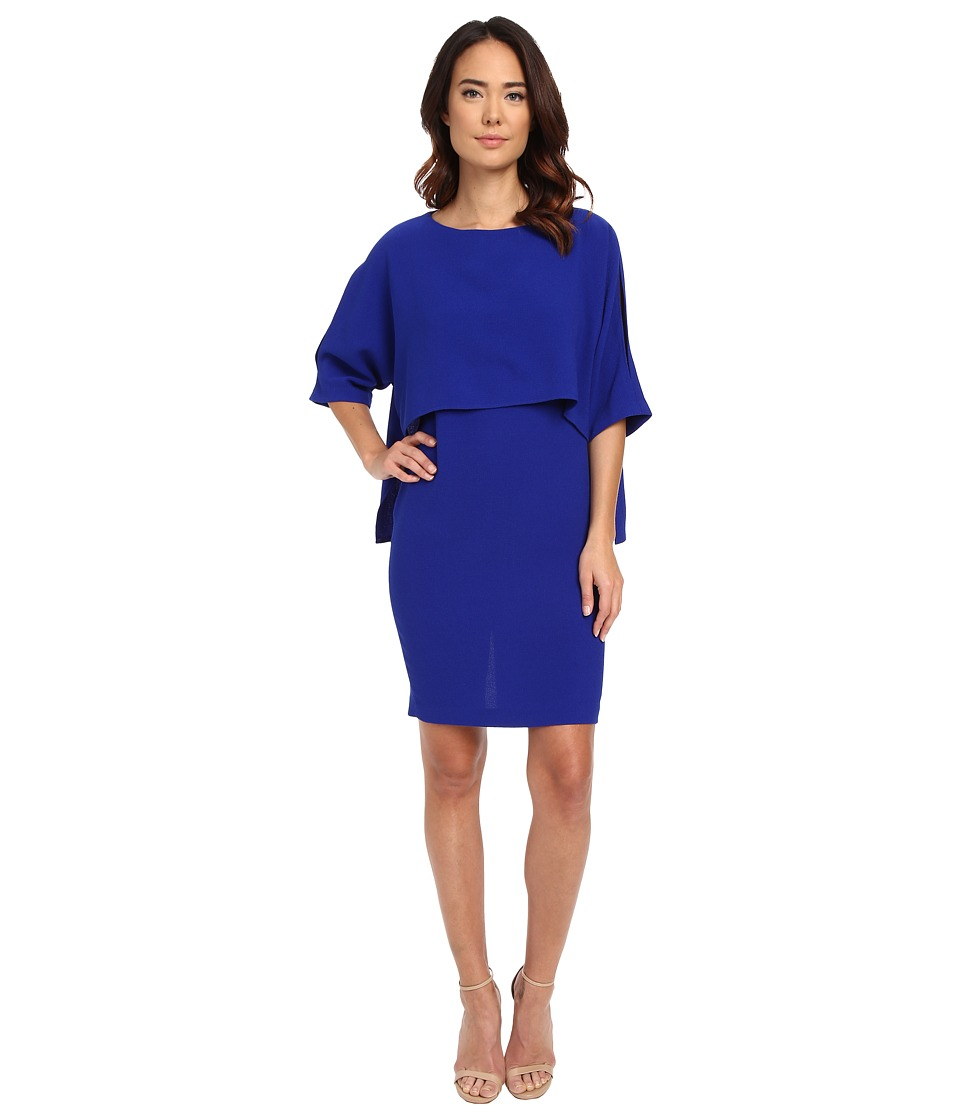 Adrianna Papell Draped Blouson Sheath Dress Iris Womens Dress
