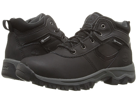 Timberland Kids Mt. Maddsen Mid Waterproof (Little Kid) - Black Oiled