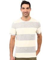 True Grit - Heather Wide Stripe Short Sleeve Crew Tee w/ Pocket