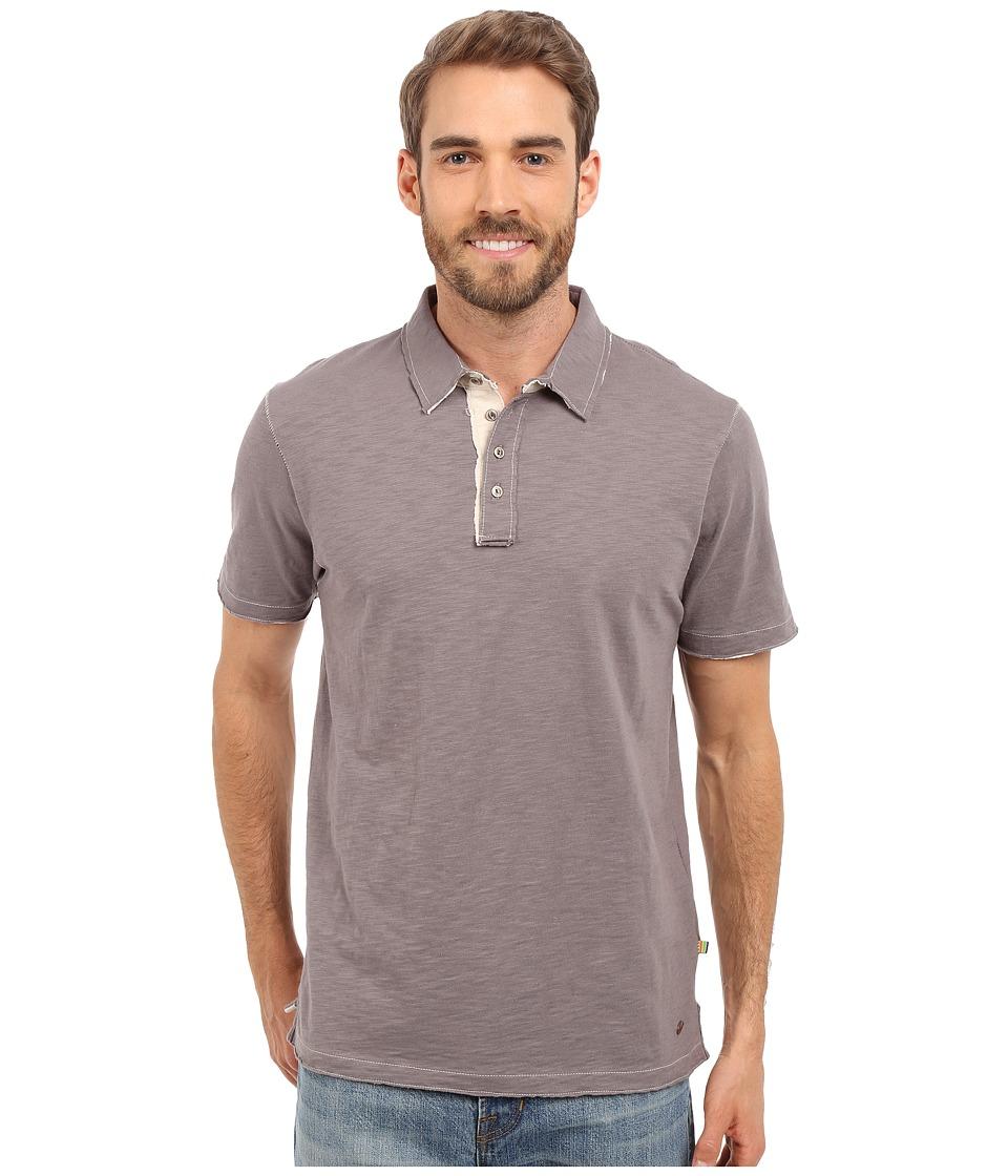 True Grit Slub Jersey Short Sleeve Vintage Polo Vintage Grey Mens Short Sleeve Pullover