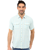 True Grit - Mojito Short Sleeve Plaid Shirt w/ Contrast Chambray