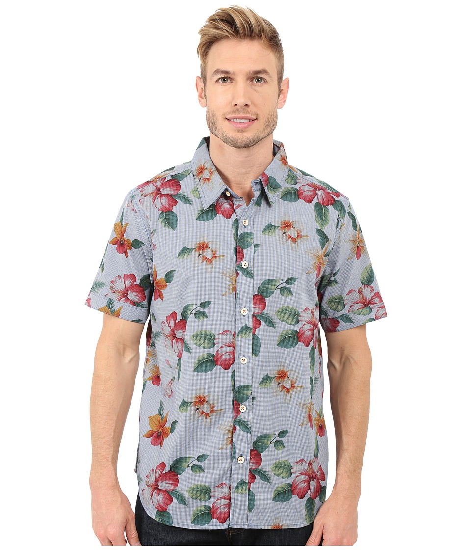 True Grit Island Time Short Sleeve Shirt w/ Contrast Chambray Mens Short Sleeve Button Up